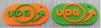 Designing keychain with the UDG logo