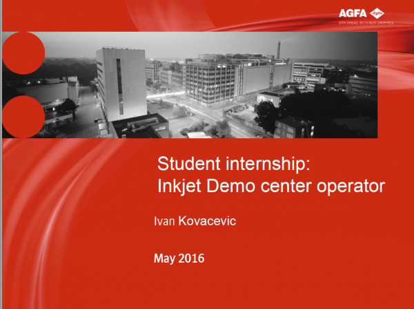 International Internship at AGFA for UDG student